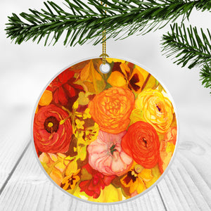 Sunset Poppy Bouquet Ornament
