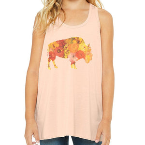 Sunset Poppy Youth Tank