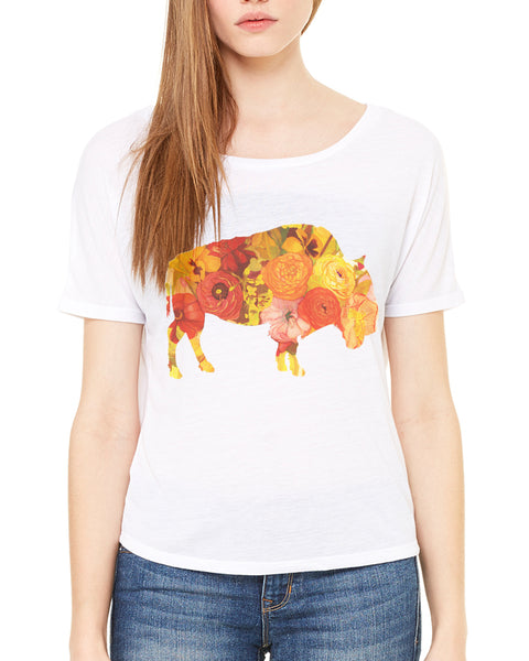 Sunset Poppy Open Back T-Shirt