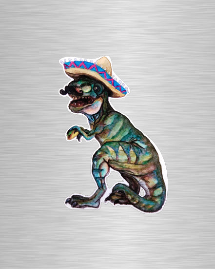 Taco Dino Vinyl Sticker/Decal