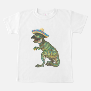Taco Dino White Toddler T-Shirt