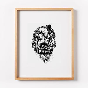 Tattered Buffalo Print