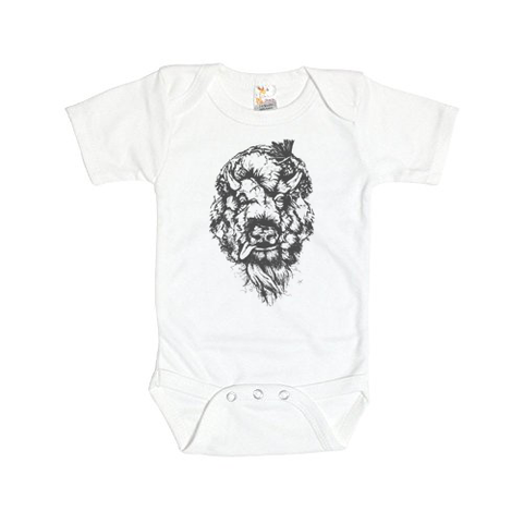 Tattered Buffalo Baby Onesie