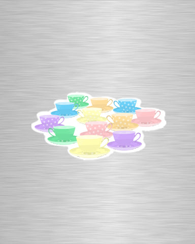 Tea Cup Ride Vinyl Sticker/Decal
