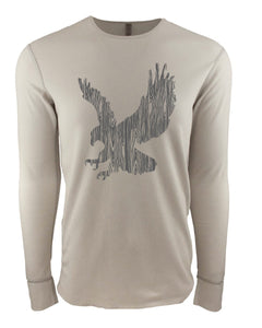 Wood Grain Eagle Thermal Long Sleeve Shirt