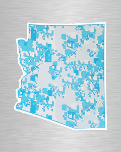 Turquoise State Sticker/Decal