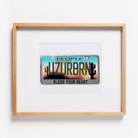 Use Your Brain (UZURBRN) License Plate Print