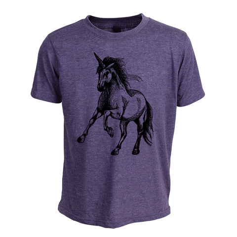 Unicorn On Paint Youth T-Shirt
