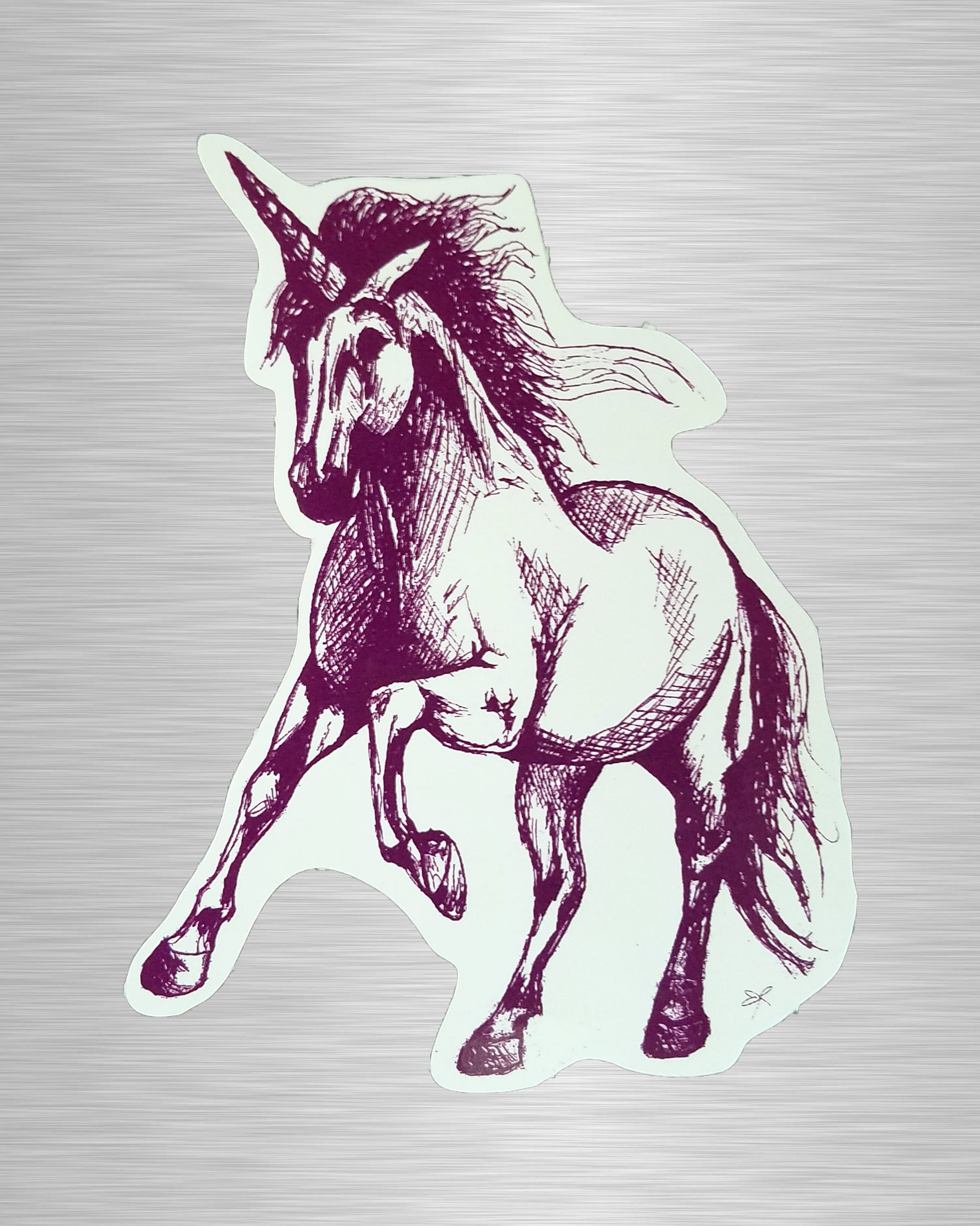 Unicorn (Purple) Vinyl Sticker/Decal