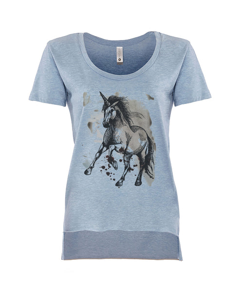 Unicorn On Paint T-Shirt