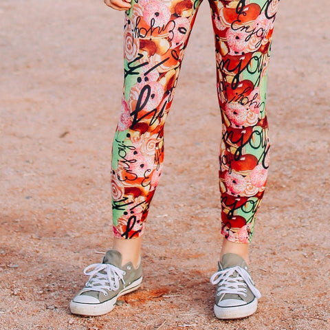 Enjoy All the Donuts Capri Leggings