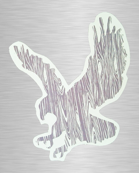 Wood Grain Eagle Sticker/Decal