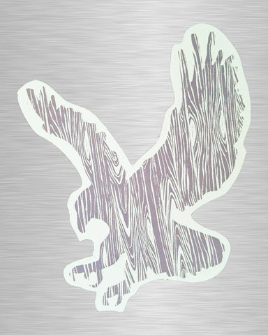 Wood Grain Eagle Vinyl Sticker/Decal