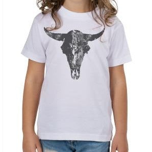 White Buffalo Skull Toddler T-Shirt