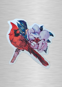 Cardinal and Magnolia Sticker/Decal