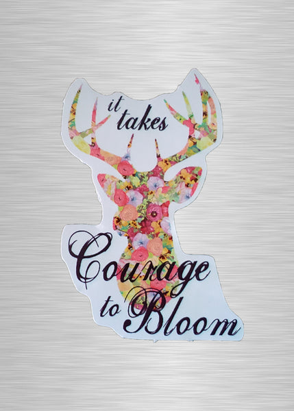 Courage to Bloom Vinyl Sticker/Decal