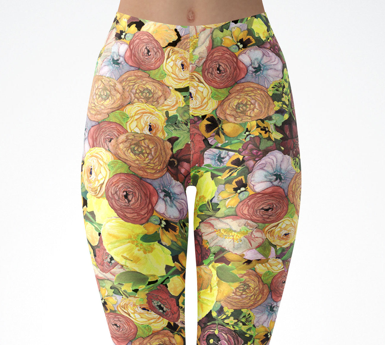 Spring Poppy Leggings