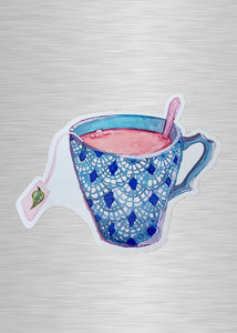 Tea Cup Vinyl Sticker/Decal