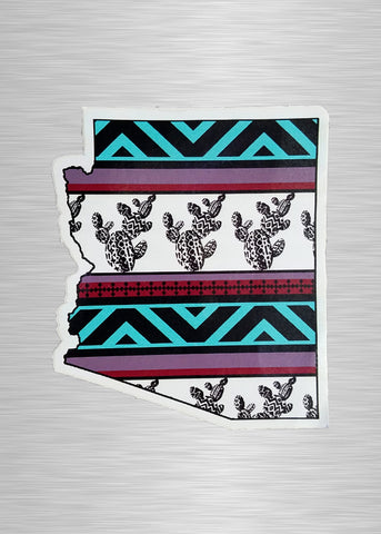 Turquoise Falsa AZ Sticker/Decal