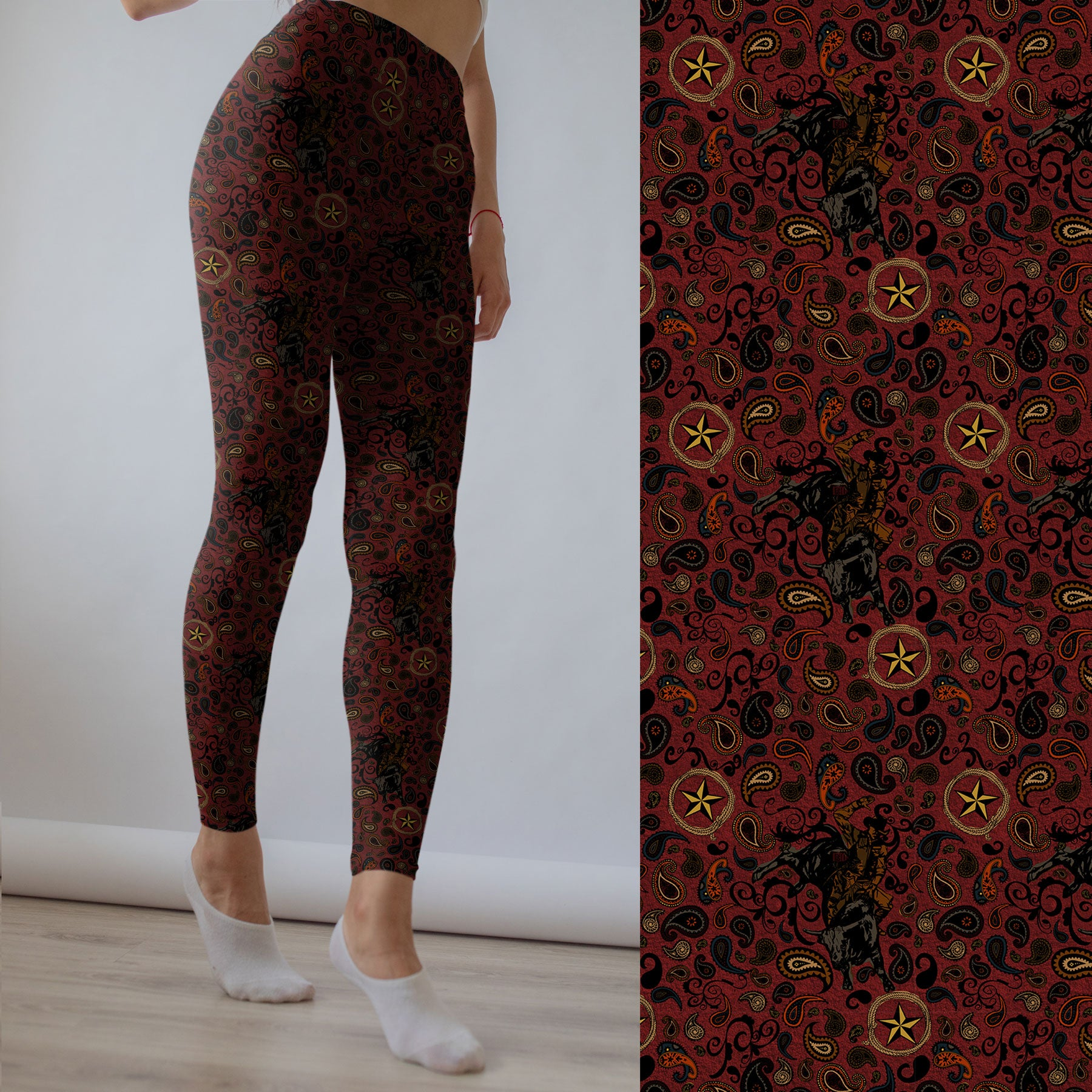 Western Paisley Leggings