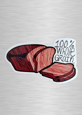Whole Grain Bread Vinyl Sticker/Decal