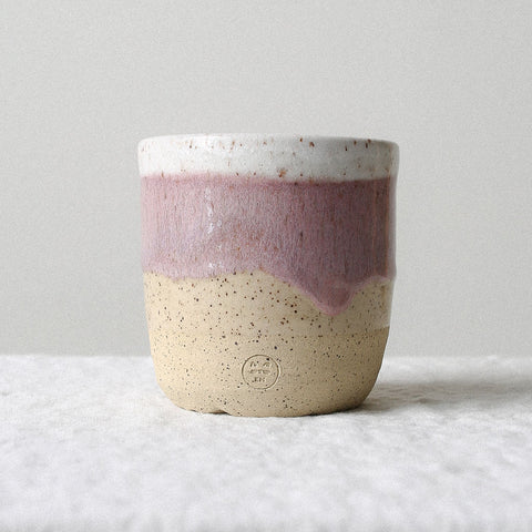 Pink Speckled Cup - Large