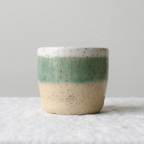 Turquoise Speckled Cup - Medium