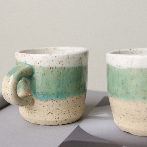 Turquoise Speckled Mug - Small