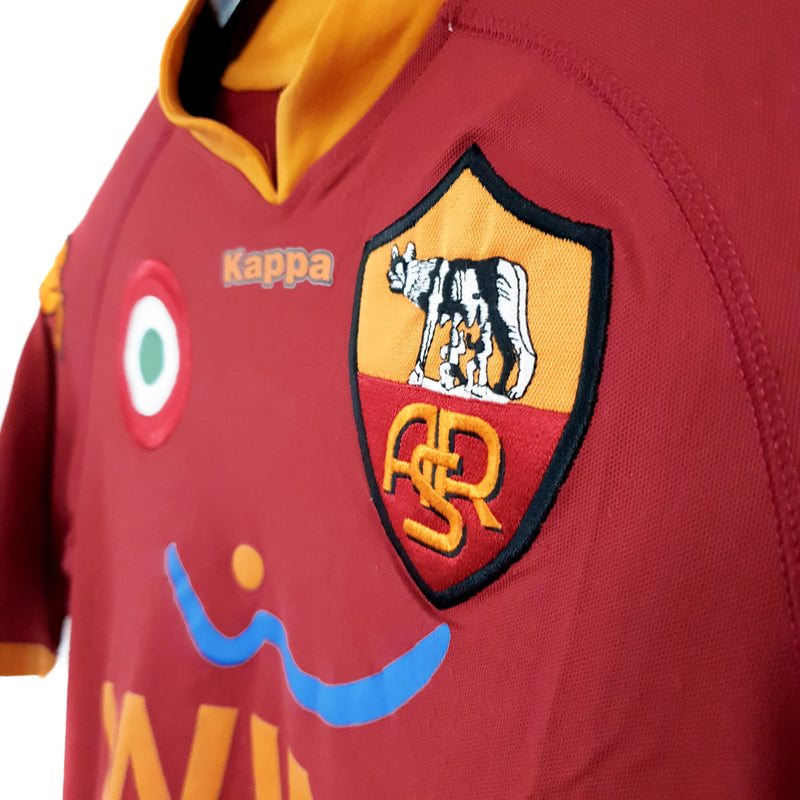 Roma signed home football shirt 2007/08 - TSPN Calcio