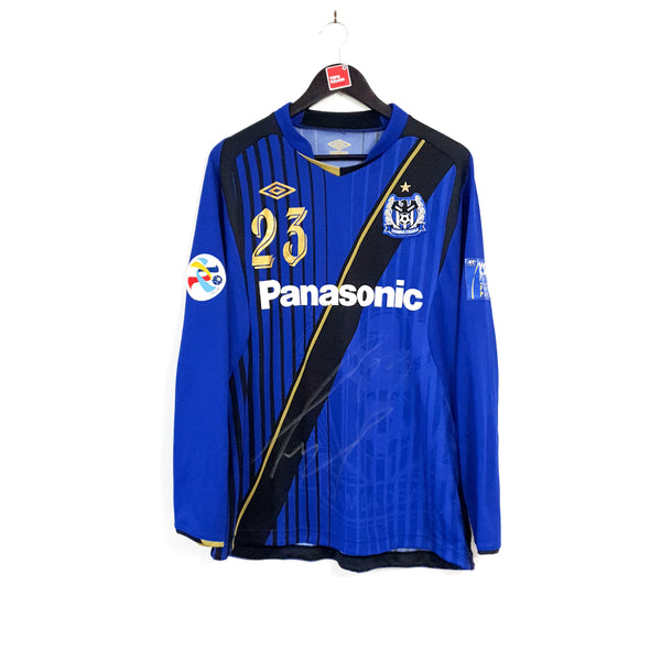 TSPN Calcio - Gamba Osaka signed cup home football shirt 2009/10