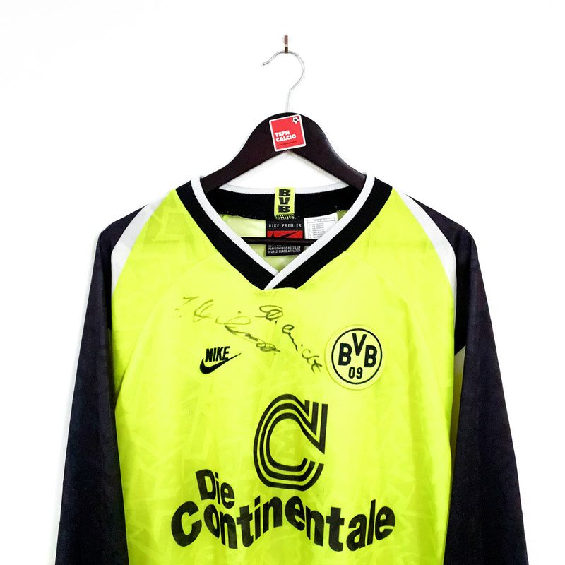 TSPN Calcio - Borussia Dortmund signed home football shirt 1995/96