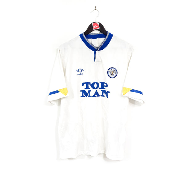 Leeds United home football shirt 1990/91
