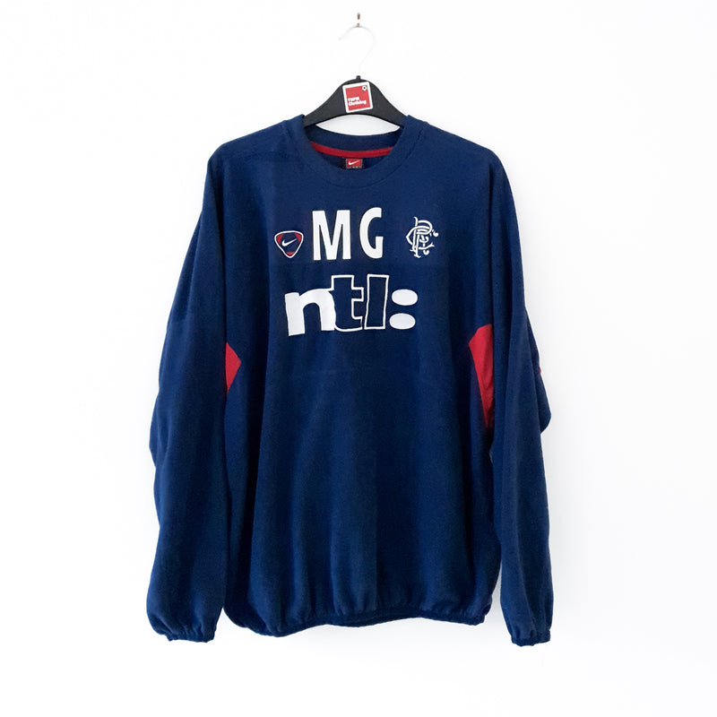 TSPN Calcio - Glasgow Rangers training football sweatshirt 2000/01