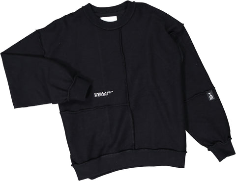 Deconstructed Crewneck W. Embroidery