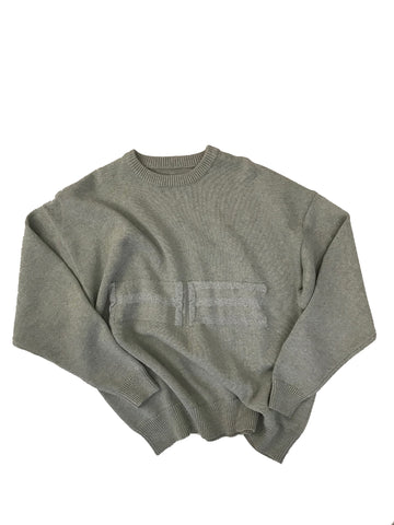 Knit Sweater With Reflective Graphics
