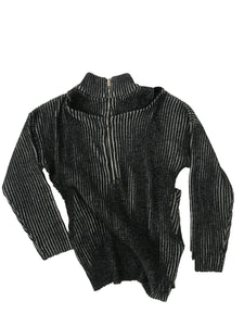 Detailed Half Zip Knit Sweater