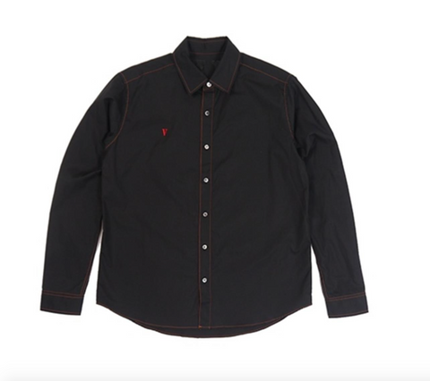 Embroidered Chest Button Up