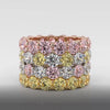 Fancy colour Yellow diamond eternity ring