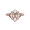 Carlyle Ring with a Portrait-cut diamond