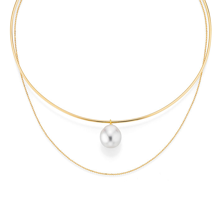 Noemi Pearl and Gold Necklace