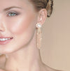 Emilia- evening glow comet Diamond earrings