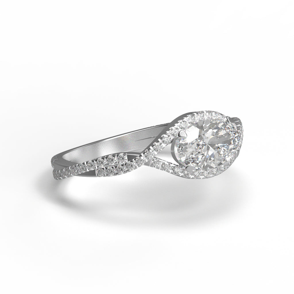 'Embrace' Oval diamond ring