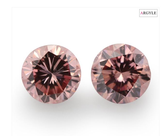 Argyle pink diamond halo studs
