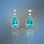 Electric blue Paraiba earrings