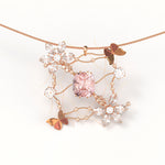Farfalle - Morganite and Diamond pendant