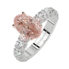 Pink Oval diamond ring two carat+