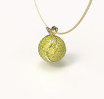 Kiki- Diamond tennisball pendant
