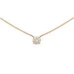 Pure Diamonds essential gold necklace with a 1.06 carat brilliant