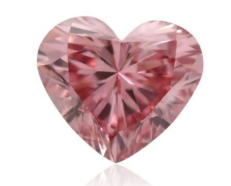 0.15 carat, Fancy Pink Diamond, 4PR, Heart Shape, VS1 Clarity, GIA & ARGYLE