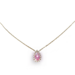 Early Spring Garden- Pink diamond necklace